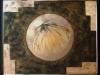 Goldene Muschel 100 cm x 80 cm